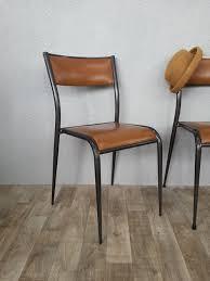 chaise mullca chaise mullca 510 métal et simili cuir perlesdechine