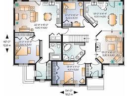 bungalow blueprints idea duplex bungalow house plans 1 eplans plan on modern