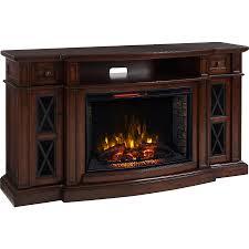 72 in w 5 200 btu chestnut mdf infrared quartz electric fireplace