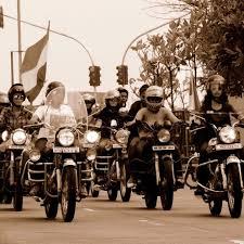 the bikerni royal enfield riders who wear lipstick u2013 meet regals