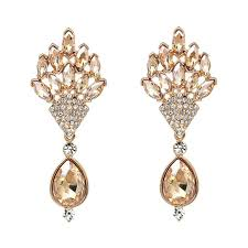 simple earrings design 2018 european style gold diamond earrings simple gold earring