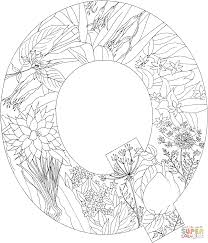 english alphabet with plants coloring pages free coloring pages