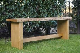 Engraved Benches Wooden Garden Bench Makemesomethingspecial Com