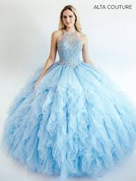 quinceanera dresses ruffled halter quinceanera dress by alta couture mq3008 abc fashion