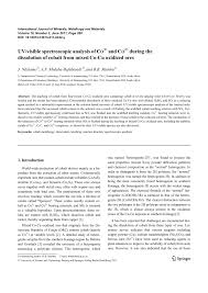 Cobalt B by Uv Visible Spectroscopic Analysis Of Co3 And Co2 During The