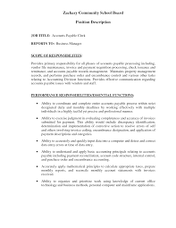 Accounts Payable Job Description Resume by How To Write Current Job Description On Resume