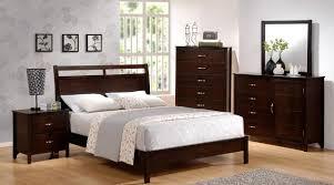 Modern Bed Set Furniture Mark Furniture Ian Bedroom Set In Brown