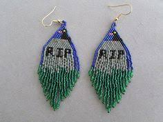 halloween spooks beaded earrings beaded earrings earrings and etsy