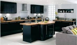 Black Gloss Kitchen Cabinets Black High Gloss Kitchen Black Gloss Kitchen Cabinets On