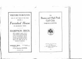 the buxton and high peak golf club buxton and high peak golf club