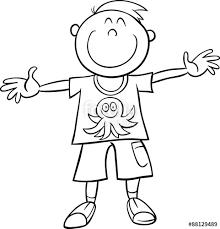 happy boy coloring book