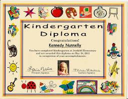 kindergarten graduation certificate of 1 certificate pre