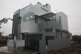 modern duplex house design in bangalore india by ashwin designs