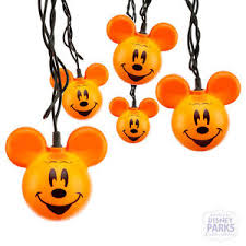 disney mickey mouse halloween pumpkin hanging string lights indoor