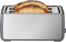 Toaster Oven With Toaster Slots Sunbeam Ta4540 Long Slot 4 Slice Toaster Appliances Online