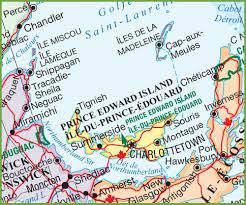 Map Of Canadian Provinces Road Map Of Pei Canada Canada Map