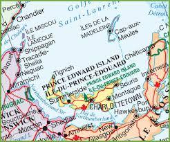 Canada Provinces Map by Prince Edward Island Maps Canada Maps Of Prince Edward Island