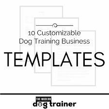 10 customizable templates for your new dog training business