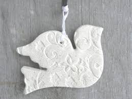 wedding gift ornaments baptism wedding gifts favors salt dough dove ornament cookie