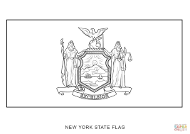 flag of new york coloring page free printable coloring pages