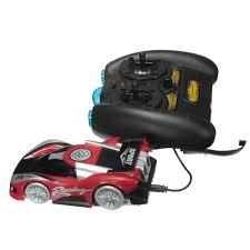 super wall climbing rc car toy racer drives zero gravity blue