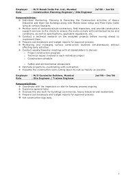 Project Manager Example Resume by Construction Project Manager Job Description Entry Level