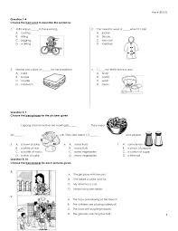english year 4 examination paper