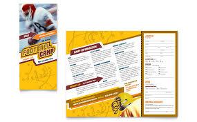 football sports camp brochure template word u0026 publisher