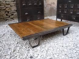 Table Acier Bois Industriel by Tables Basses Mettetal Industry Design Industriel Du 20eme Siecle