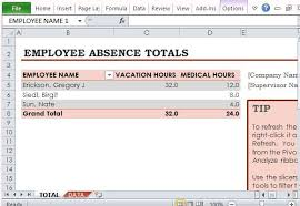 Employee Vacation Accrual Spreadsheet 9 Employee Vacation Tracker Templates Excel Templates