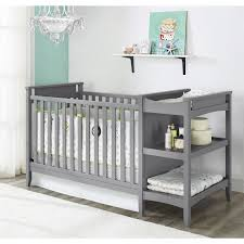 grey crib changing table combo baby convertible toddler bed Oak Baby Changing Table