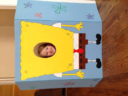 spongebob photo booth made for kids birthday party an easy diy