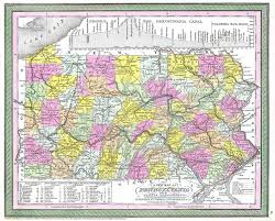 A Map Of Pennsylvania by File 1850 Cowperthwait Mitchell Map Of Pennsylvania