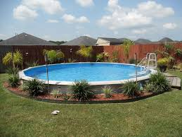 above ground pool sunk two feet