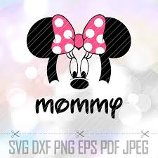 svg dxf minnie mouse mommy pink bow layered cricut silhouette