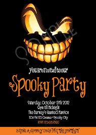 spooky party invitation halloween invitation