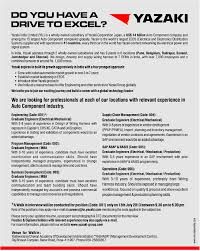 Sap Abap Resume For 2 Years Experience Jobs In Yazaki India Limited Vacancies In Yazaki India Limited