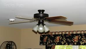 Brass Ceiling Fans With Lights by Updating A Ceiling Fan With A Little Paint Tempting Thyme