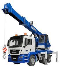 bruder fire truck bruder man tgs crane truck with light u0026 sound educational toys