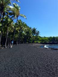 black sand beach big island punalu u black sand beach big island hawaii black sand beach in