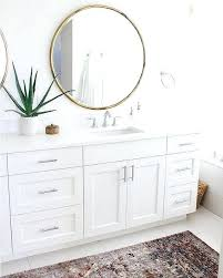 white frame mirror ledin framed bathroom mirrors for design 15