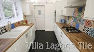 Concrete Tile Backsplash by Cement Tile Backsplashes Villa Lagoon Tile