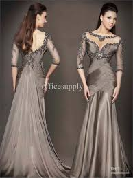 2017 special occasion dresses gray mermaid evening dresses with
