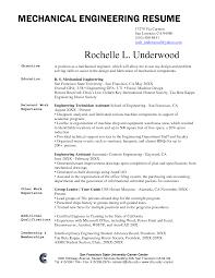 Technical Resume Objective Resume Mechanical Technician Resume Sample