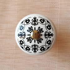 black ceramic cabinet knobs black floral printed ceramic cabinet knobs furniture handle drawer