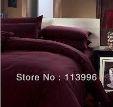 Wine Colored Bedding Sets Wine Solid Color Thick Brushed Cotton Bedding Set King
