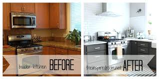 Painted White Kitchen Cabinets Before And After Paint Kitchen Cabinets Before And After Faced