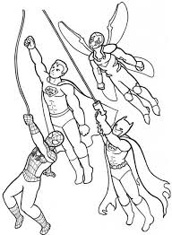 generic superhero coloring pages coloring