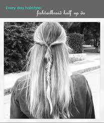hairstyles with one elastic an easy everyday hairstyle you just make a normal half up do and