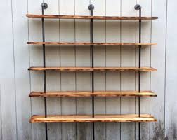 industrial bookcase etsy